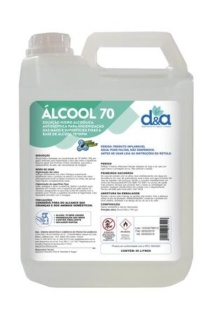 D&A ALCOOL 70 LIQUIDO